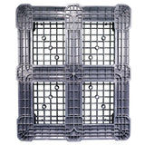 40 x 48 Rackable Plastic FDA Pallet - Grey - Polymer Solutions DLR OWS PP-O-40-R7FDA-Grey Standing Bottom HeadOn