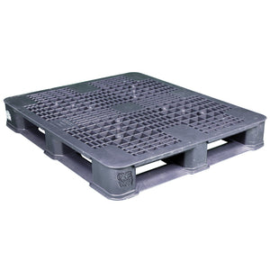 40 x 48 Rackable Plastic FDA Pallet Grey- Polymer Solutions DLR OWS PP-O-40-R7FDA-Grey Repose Top