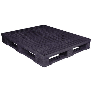 40 x 48 Rackable Plastic Pallet - Polymer Solutions ProGenic 6_ Black OWS PP-O-40-R4 Repose Top