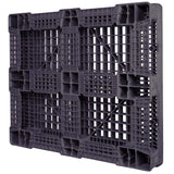 40 x 48 Rackable Plastic Pallet - Polymer Solutions ProGenic 6_ Black OWS PP-O-40-R4 Standing 3-4 Bottom