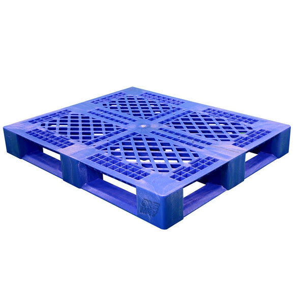 40 x 48 Rackable Stackable FDA Pallet - Blue w/Lip - Polymer Solutions Progenic 6 w/Lip  OWS PP-O-40-R5FDA-Blue-L Repose Top