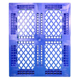 40 x 48 Rackable Stackable FDA Pallet - Blue w/Lip - Polymer Solutions Progenic 6 w/Lip  OWS PP-O-40-R5FDA-Blue-L Standing Top HeadOn