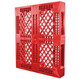 40 x 48 Rackable Stackable FDA Pallet - Red - Polymer Solutions Progenic 6 OWS PP-O-40-R5FDA-Red Standing 3-4