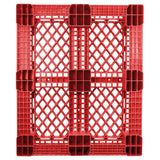40 x 48 Rackable Stackable FDA Pallet - Red - Polymer Solutions Progenic 6 OWS PP-O-40-R5FDA-Red Standing Bottom HeadOn