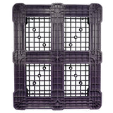 40 x 48 Rackable Ventilated Plastic Pallet - Black - Polymer Solutions DLR Black OWS PP-O-40-R7FM-Black Standing Bottom HeadOn