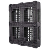 40 x 48 Rackable Ventilated Plastic Pallet - Polymer Solutions DLR OWS PP-O-40-R7 3-4 Bottom