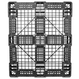40 x 48 Stackable FDA Approved Plastic Pallet - Black - Polymer Solutions ProGenic-LD OWS PP-O-40-S4FDA-Black Standing Bottom HeadOn