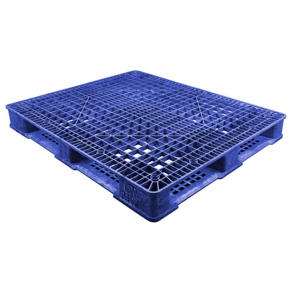 40 x 48 Stackable FDA Approved Plastic Pallet - Blue - Polymer Solutions ProGenic-LD OWS PP-O-40-S4FDA-Blue Repose Top