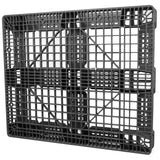 40 x 48 Stackable Fire Retardant Plastic Pallet - Black - Polymer Solutions ProGenic-LD OWS PP-O-40-S4FM-Black Standing 3-4