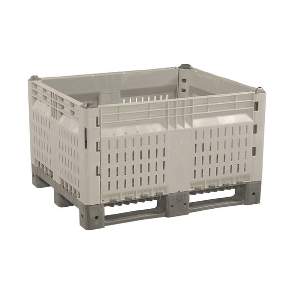 40 x 48 x 28 Vented Collapsible Container Bin OWS CP-O-40-C Decade 14K100MGG Repose top