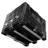 40 x 48 x 34 Collapsible Bulk Bin - Triple Diamond Plastics TDP-4840-34 OWS CP-S-40-C4 Bottom