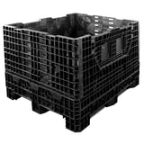 40 x 48 x 34 Collapsible Bulk Bin - Triple Diamond Plastics TDP-4840-34 OWS CP-S-40-C4 Repose