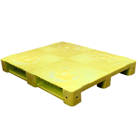 40 x 48 Yellow Rackable Plastic FDA Pallet - Decade PNH2001BL OWS PP-S-40-S5FDA-Yellow Repose Top