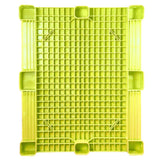 40 x 48 Yellow Rackable Plastic FDA Pallet - Decade PNH2001BL OWS PP-S-40-S5FDA-Yellow Standing Bottom