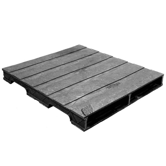 42 x 48 Heavy Duty Solid Deck Rackable Plastic Pallet - PPC ppc4248-3 OWS PP-S-4248-RC Repose Top