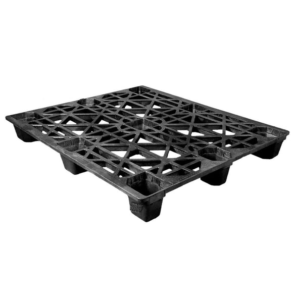 42 x 48 Nestable Heavy Duty Pro-Pal Plastic Pallet - Full Circle FCP-O-42-NH OWS PP-O-42-NH Repose Top