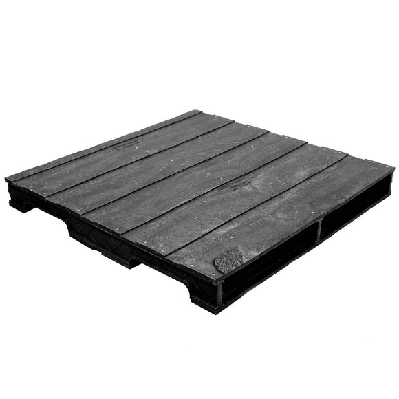43 x 43 Heavy Duty Solid Deck Rackable Plastic Pallet - PPC ppc4343-3 OWS PP-S-4343-RC Repose Top