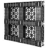 44 x 48 Rackable Stackable Fire Retardant Plastic Pallet - Greystone GS.44.48.000 OWS PP-O-4448-R Standing Bottom 3-4