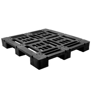 45 x 48 Heavy Duty Stackable Plastic Pallet - Full Perimeter Lip Greystone R4845-FP OWS PP-O-45-SD-FP Repose Top