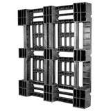 45 x 48 Heavy Duty Stackable Plastic Pallet - Full Perimeter Lip Greystone R4845-FP OWS PP-O-45-SD-FP Standing Bottom -34