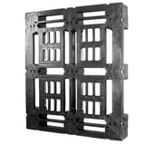 45 x 48 Heavy Duty Stackable Plastic Pallet - Full Perimeter Lip Greystone R4845-FP OWS PP-O-45-SD-FP Standing Top 3-4
