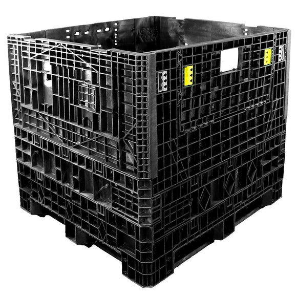 45 x 48 x 42 Solid Wall Collapsible Plastic Container - OWS CP-S-45-C-45 TDP-4845-42 Top Repose