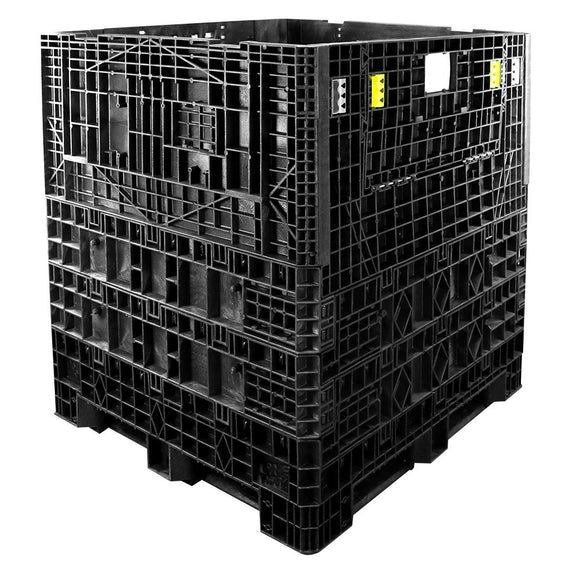 45 x 48 x 50 Collapsible Plastic Container Bin - OWS CP-S-45-C-50 Triple Diamond TDP-4845-5 - Repose Top