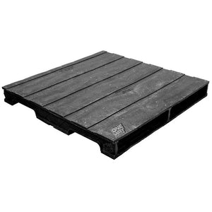 48 x 48 Heavy Duty Solid-Deck Rackable Plastic Pallet - OWS PP-S-4848-RC PPC PPC4848-3 - Repose Top