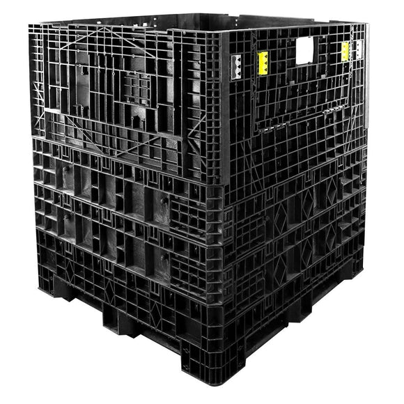 48 x 48 x 25 Plastic Collapsible Container - TDP 4845-25 - OWS CP-S-45-C-25 - Repose Top