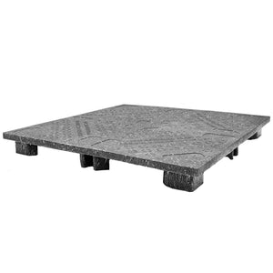 48 x 48 Zeus Solid Deck Plastic Display Pallet - Rotational Molding of UT #Zeus OWS PP-S-4848-S Repose Top