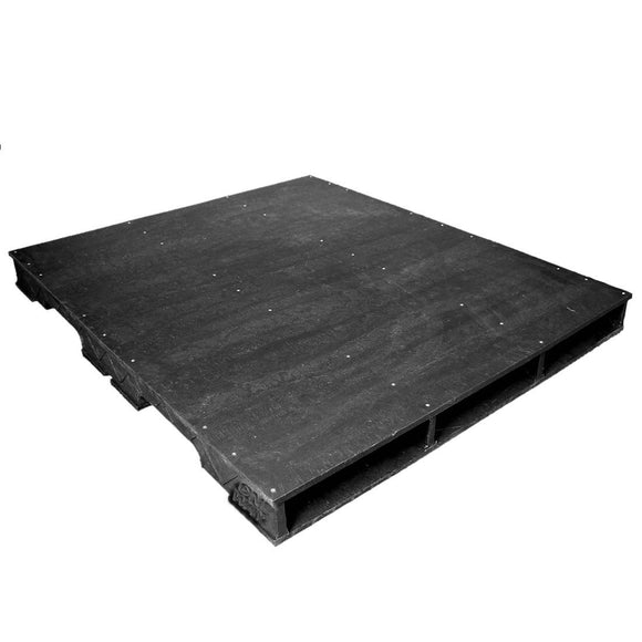 48 x 56 Rackable Plastic Pallet - PPC ppc4856-3 OWS PP-S-4856-RC Repose Top