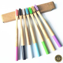 Down To Earth Color Block Bamboo Toothbrushes