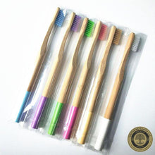 Down To Earth Color Block Bamboo Toothbrushes - Mothers Earth LLC