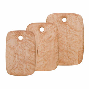 Group of Birdseye Maple Rectangular cutting and serving boards