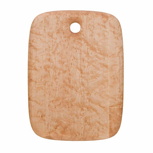 Large Birdseye maple cutting and serving board with hole