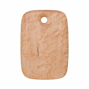 Medium Birdseye maple cutting and serving board with hole