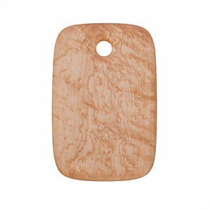 Small Birdseye maple cutting and serving board with hole