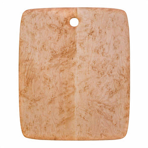 Extra Large Rectangular Birdseye maple cutting and serving board with hole