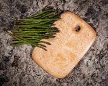 Overhead image of a Medium Rectangular Birdseye Maple cutting and serving board