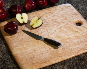 A large wood cutting board is a great handmade gift idea.