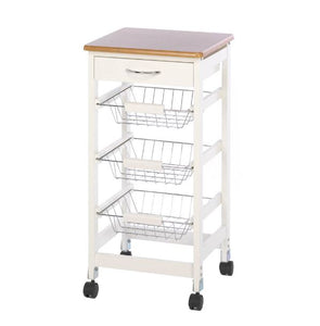 Kitchen Table Trolley Storage Sturdy Strong Wire Baskets Books Utensils Wall Home Accent