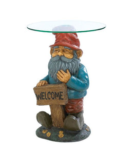Garden Gnome Accent Table Yard Garden Indoor Outdoor Cute  Side Home Decor Accent Sale