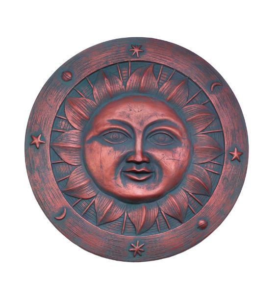 Smiling Sun Stepping Stone Rays Cheery Ceramic Indoor Outdoor Wall Art Yard Garden Home Accent