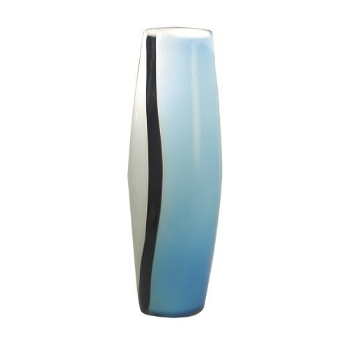 Dale Tiffany Arctic Blue Vase Art Glass 18