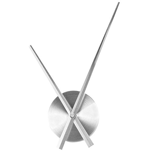Mid Century Modern Aluminum 3D Clock Hands Movement Time Wall  Art Silver Home Decor Accent