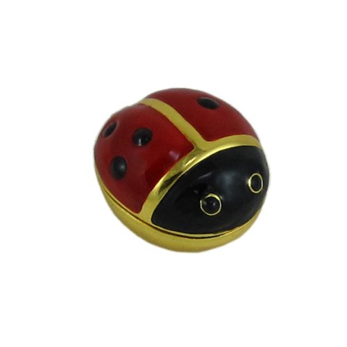 Cute Ladybug Enamel Trinket Treasure Keepsake Pill  Box  Gift Home Accent
