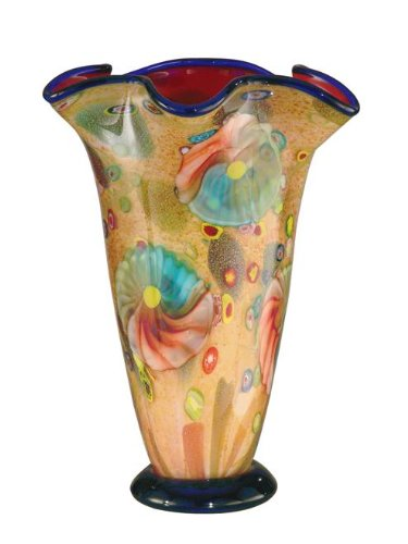 Dale Tiffany Coast Sand Favrile Vase Hand Blown Art Glass Color Pattern 24