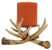 Faux Risen Antler Pillar Candle Holder 6-inch Cabin Forest Rustic Homey Home Decor Accent