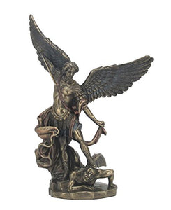 St. Michael Standing With Sword  Sculpture Cold Cast Bronze Accent