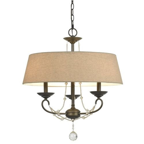 Dawson Chandelier Burlap Shade Ceiling Chain Chandelier Romantic Home Decor Accent Any Room Sale